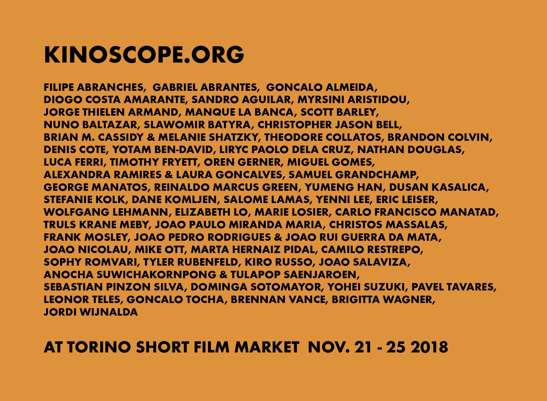 """""""Kinoscope at Torino Short Film Market"""""""