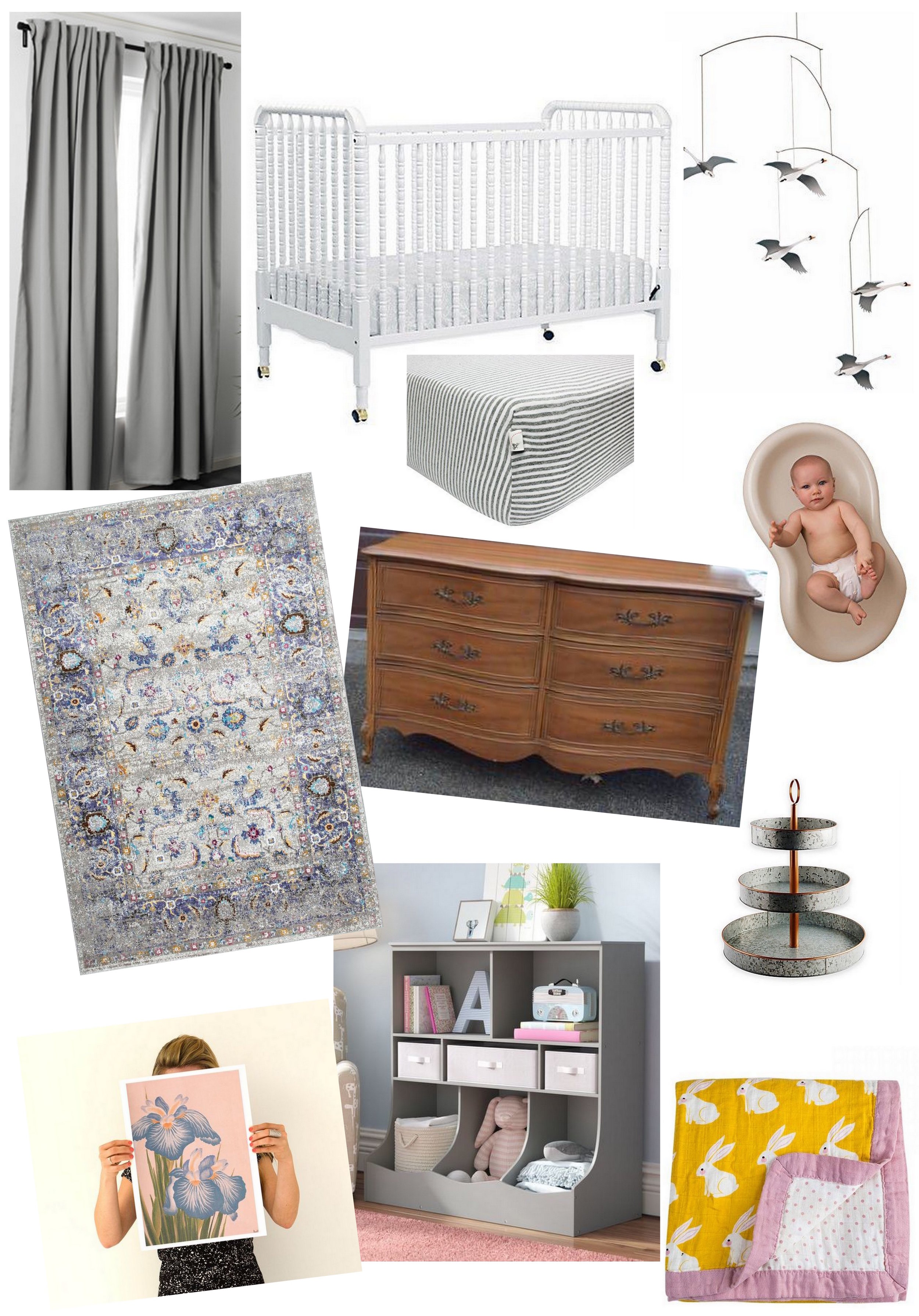 Baby Girl's Room - Moodboard | Cassia & Co.
