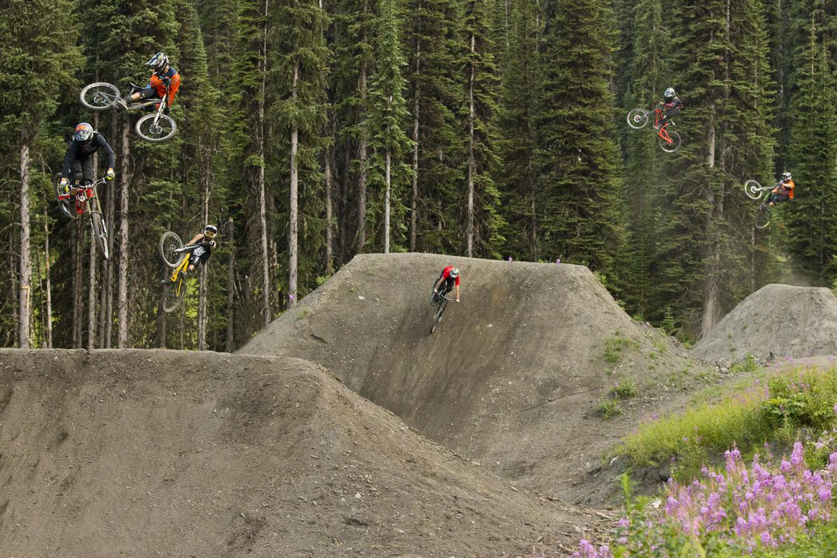 Sam Reynolds leads the Fest Riders Retallack, British Columbia