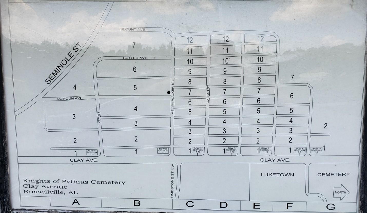 Russellville Cemetery Map