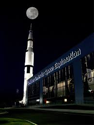 Rocket City at night