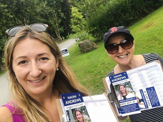 Great canvass kickoff this morning! And then this mother-daughter duo knocked a lot of doors! #nhpolitics