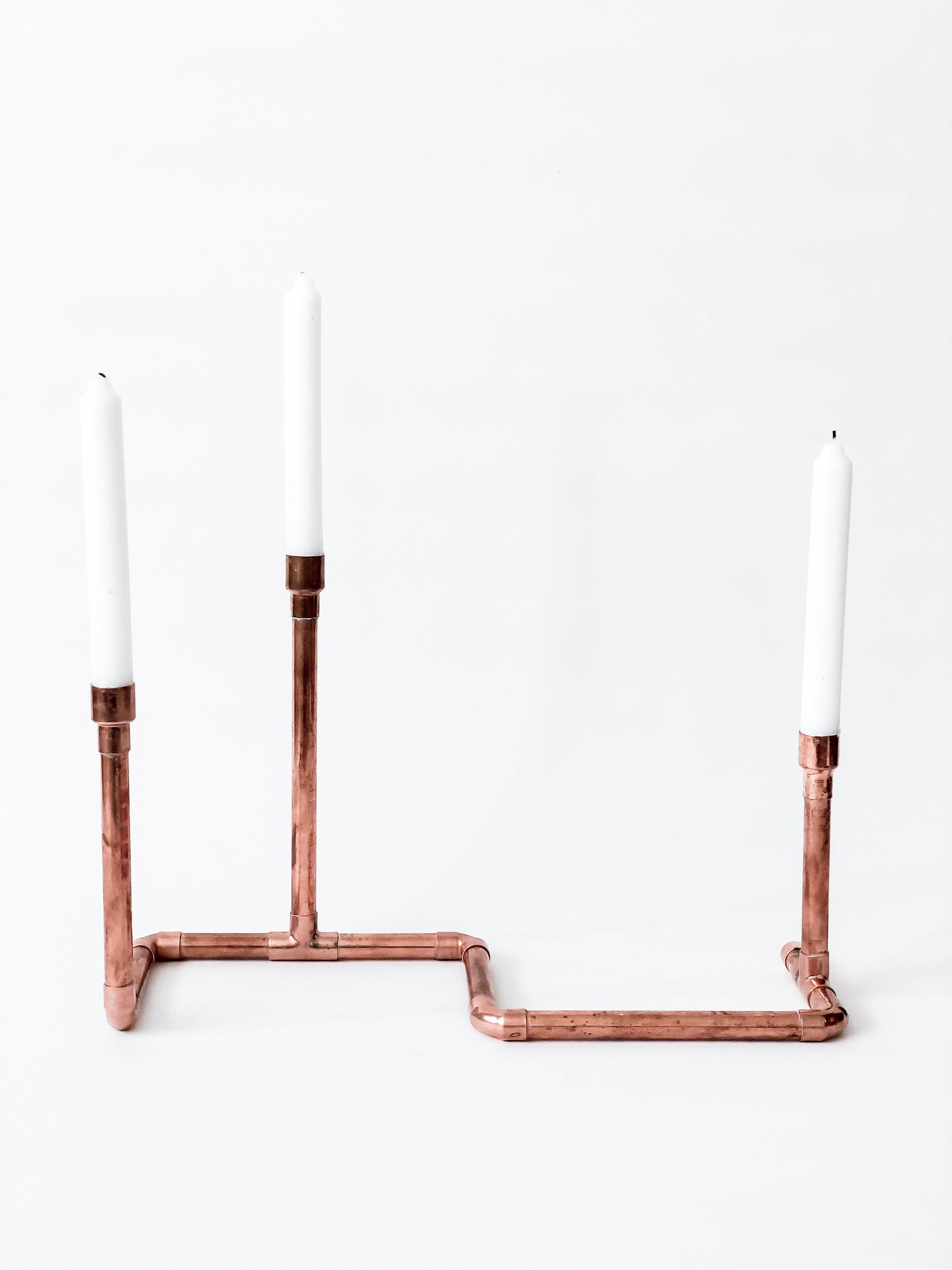 Copper Candlestick Holder / #004 / $12