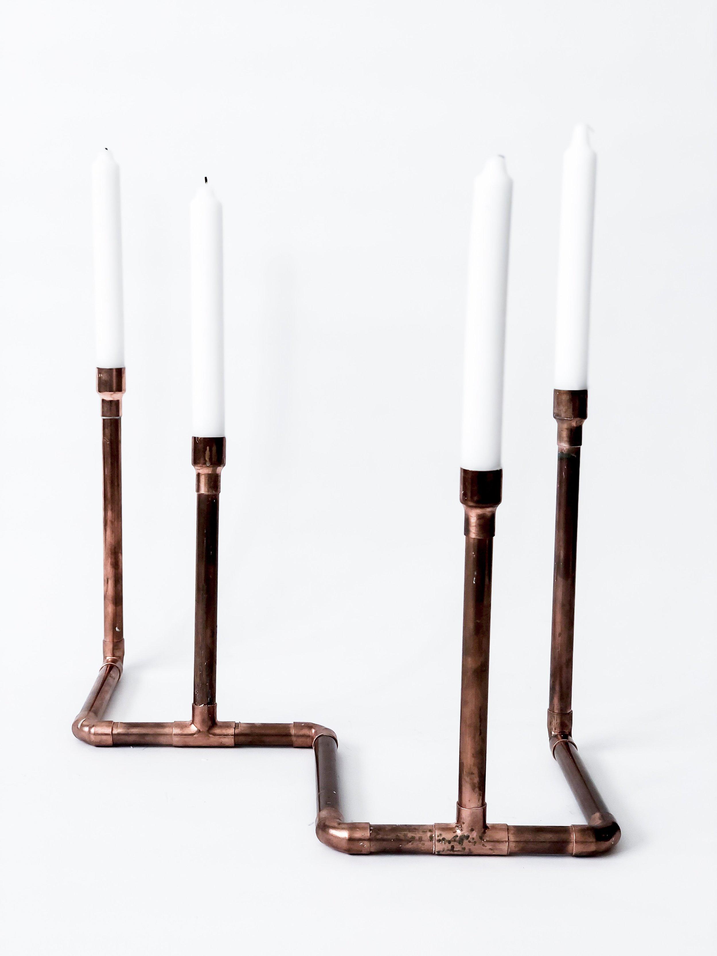 Copper Candlestick Holder / #005 / $14