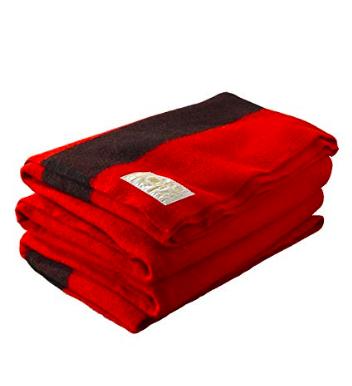Vintage Hudson Bay Scarlet Blanket / #018 / $40