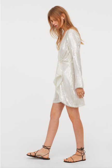 H&M - Airy Sequined Dress