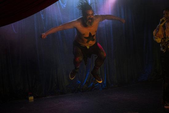 Mr. Universe leaps atmospherically. Photo credit:  Jonathan Levinson
