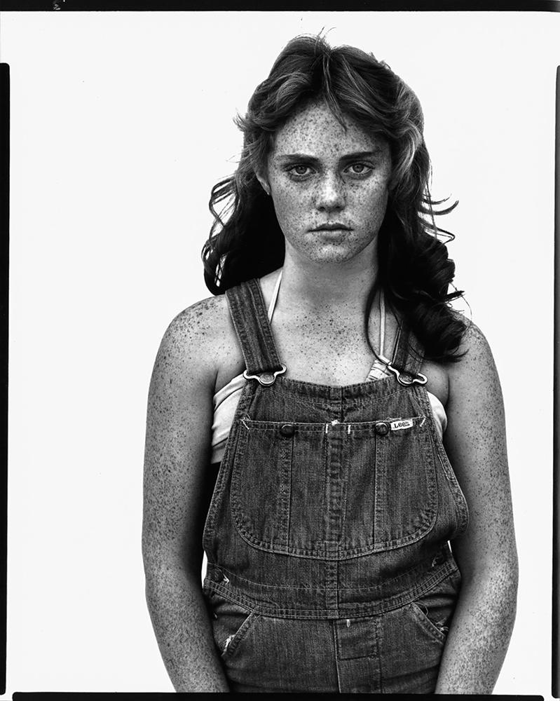 Master photo: Sandra Bennett, Twelve Year Old, Rocky Ford, Colorado, August 23, 1980. by Richard Avedon