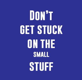 social media content curation tip - don't get stuck on the small stuff