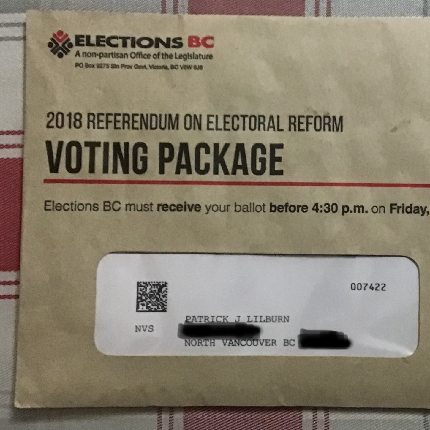 An actual real-live referendum package!