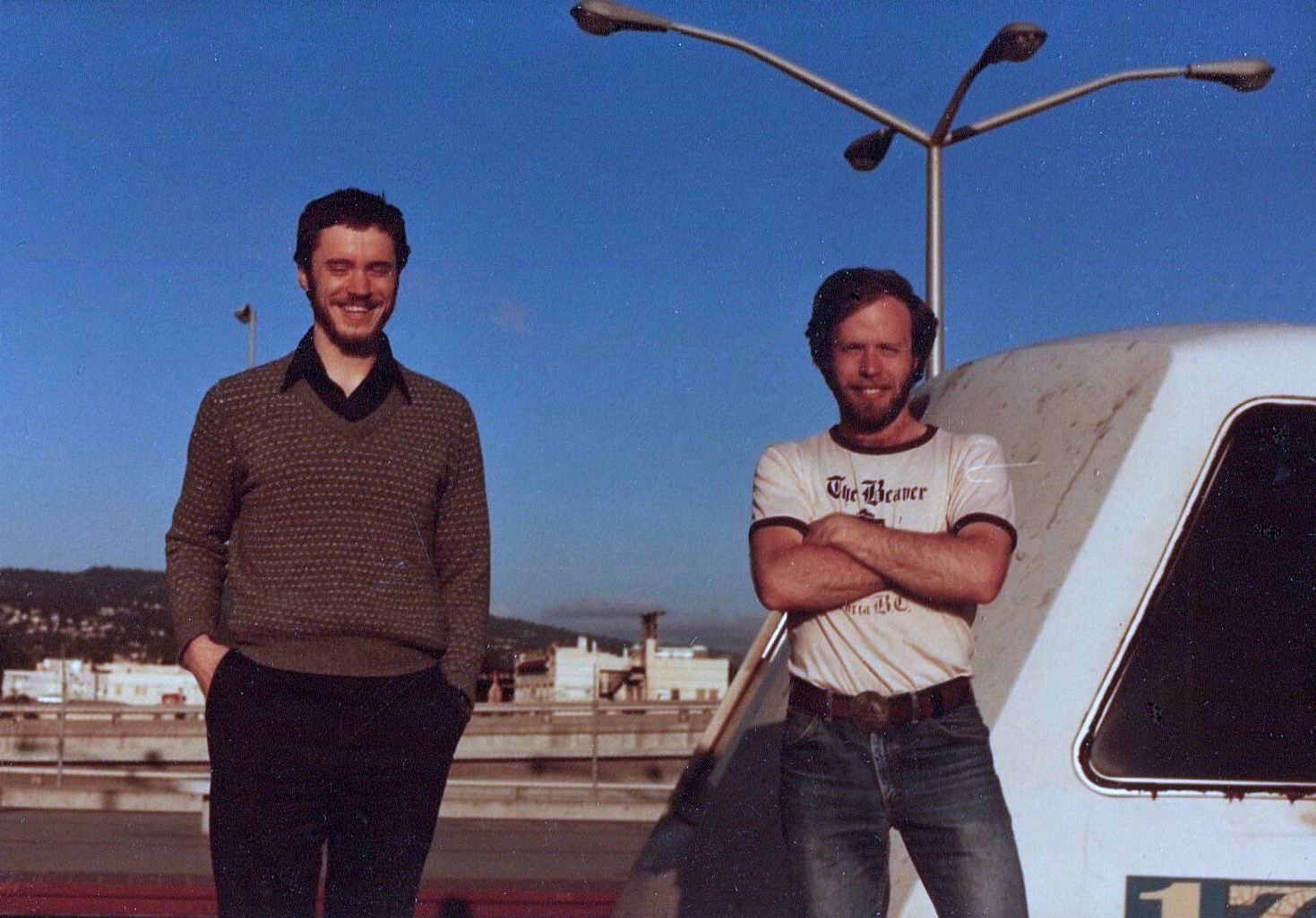 KJ's photo of PJ and RJ in San Francisco
