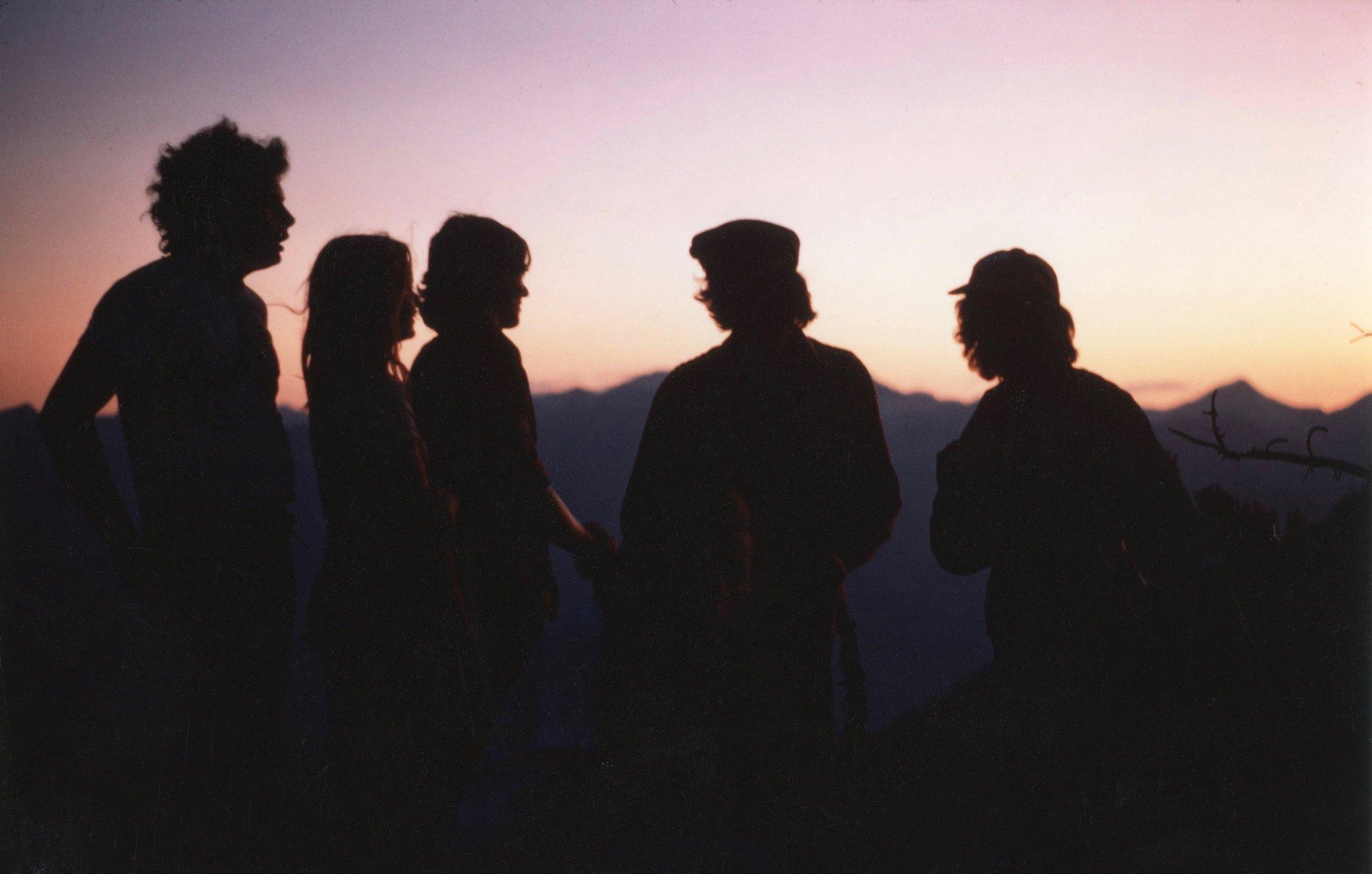 Huey, Carmen, Jute, Mike, and Scratch, at Idaho Peak