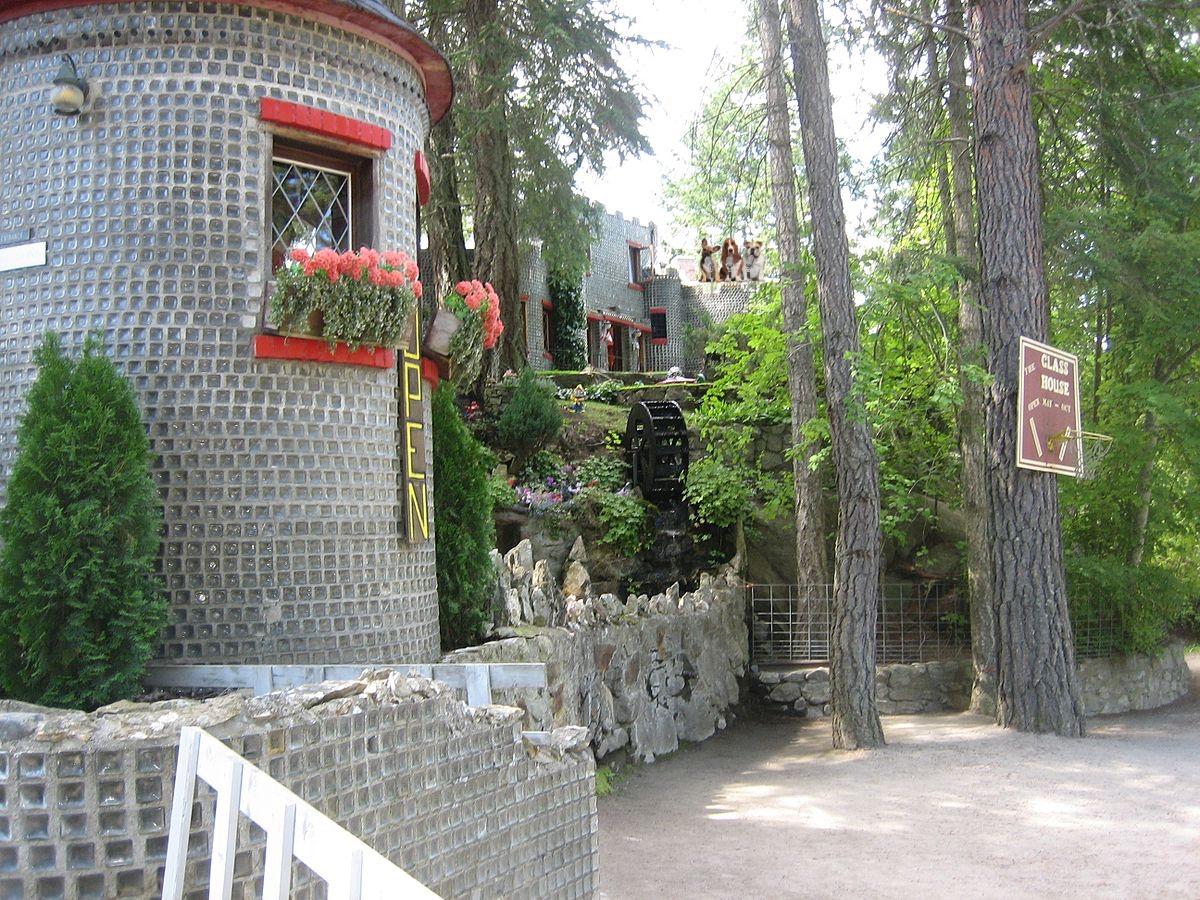 Embalming bottle house on Kootenay Lake