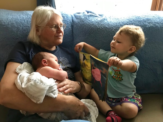 Starting at the beginning with help from Big Sister! And Grandma.