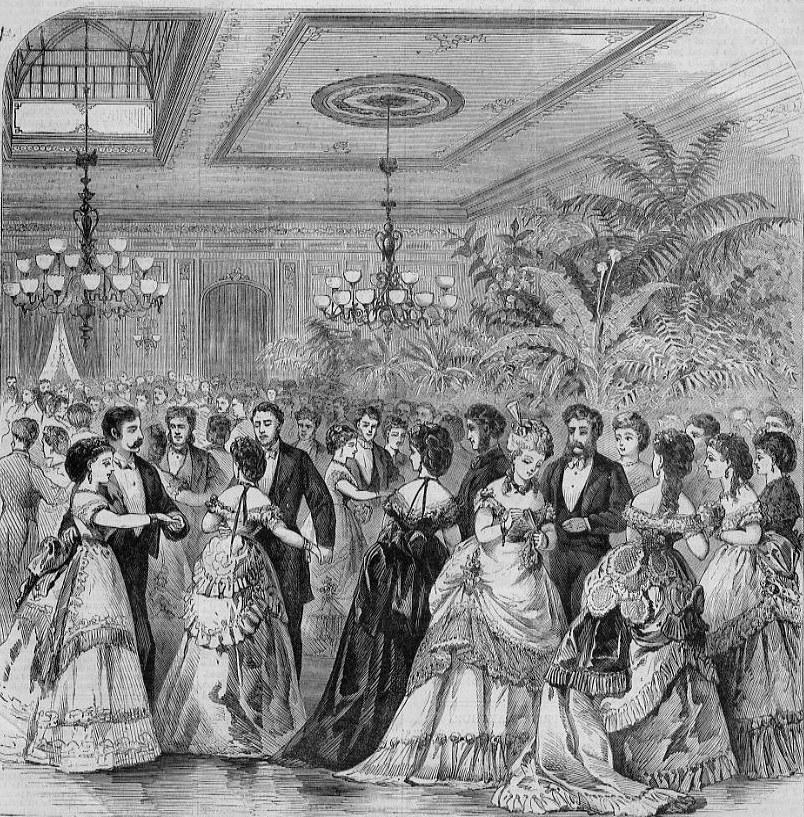 Reception for Prince Arthur at Delmonico's, 1870