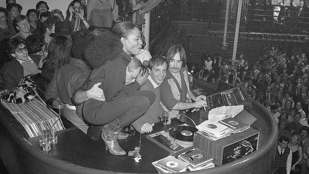 Diana Ross and Steve Rubell at Studio 54