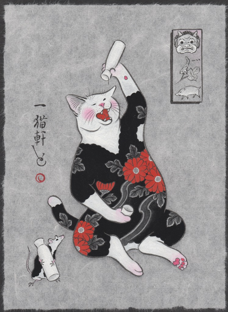 """Sake Cat and Mouse"""