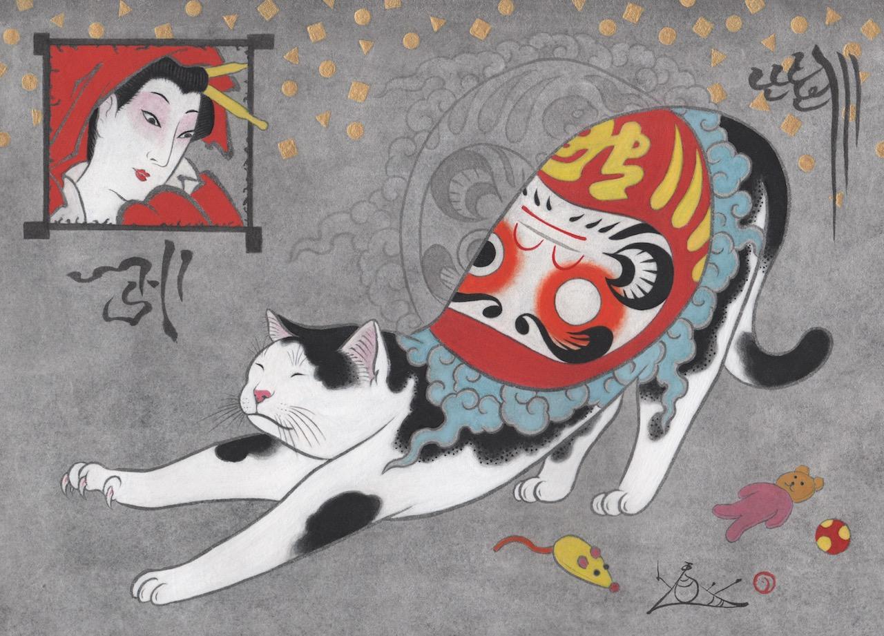 """""""Daruma Toy Cat"""""""