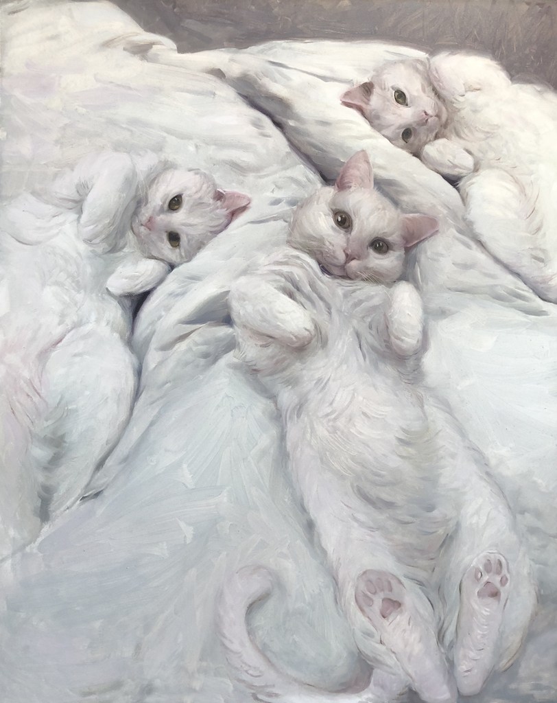 """White Kitten Study no.2"""