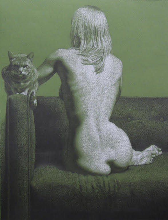 """Cat with Nude"""
