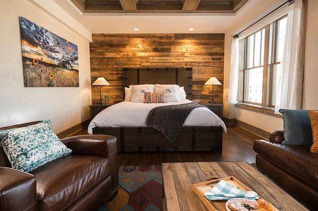 Check out The Prairie Room--with great views of Downtown Pawhuska, and a few rustic touches, you'll feel right at home on the range!