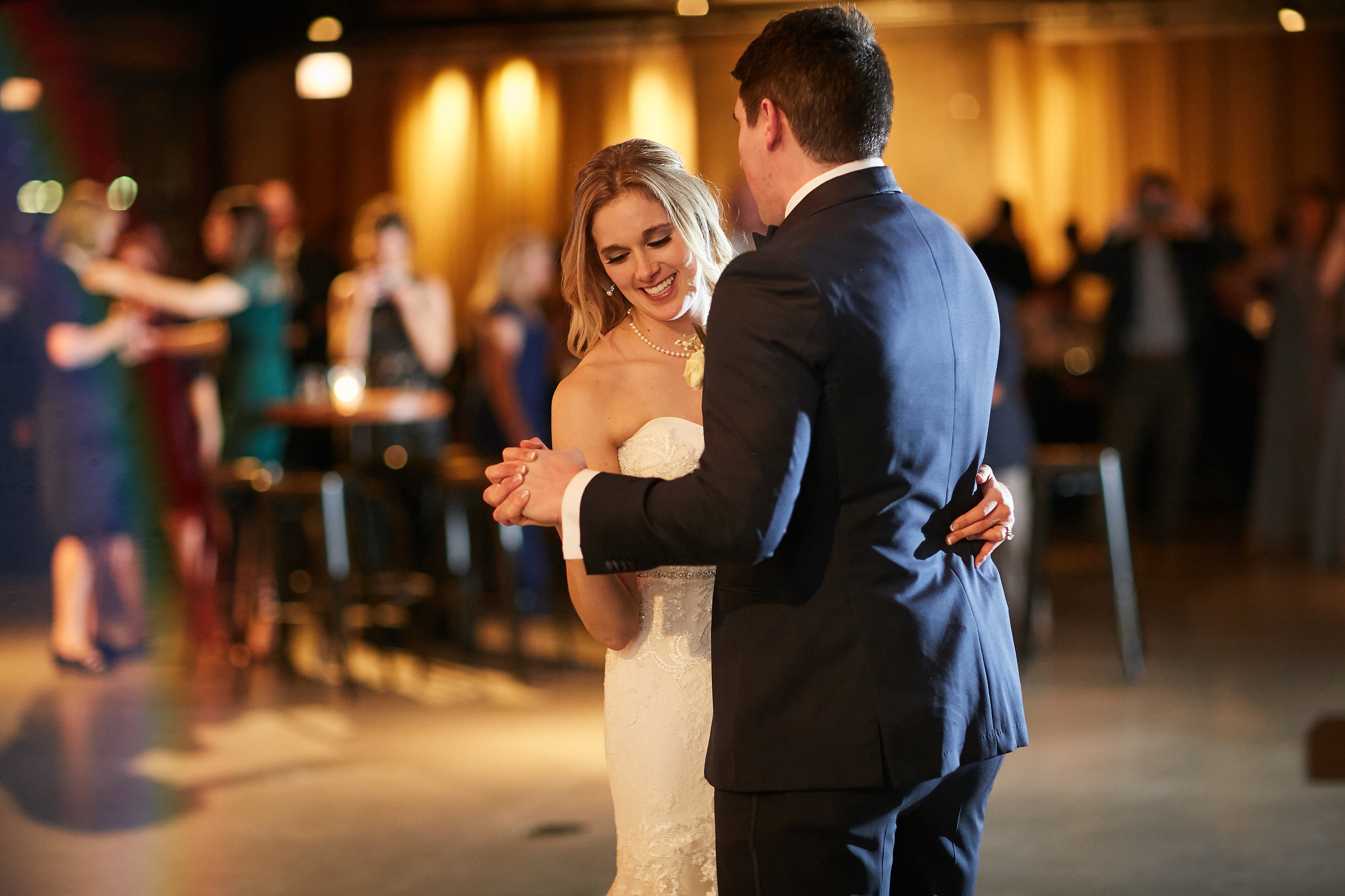 bride groom first dance wedding day married marriage reception