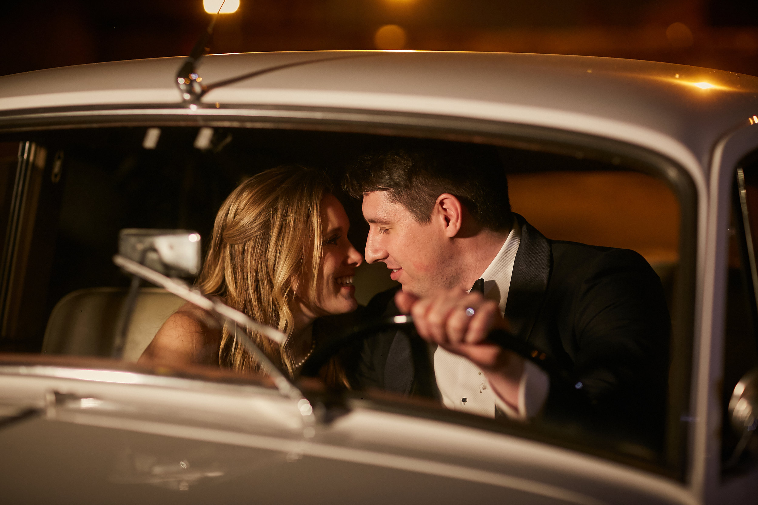 bride groom wedding couple married marriage rolls royce house car sneak peek moment get away car