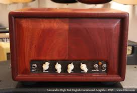 Alessandro English Coonhound   The Alessandro English Coonhound is a 4 x EL84 amp running in Class-A mode, with a 2 x 6SL7 octal preamp.
