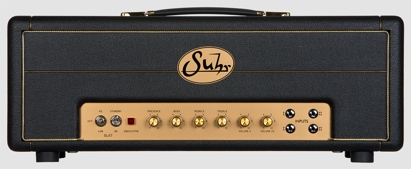 Suhr SL Series   The Suhr SL67 and SL68 amplifiers are no compromise, hand wired, amplifiers built to deliver the complete range of classic British-style tones at any volume.