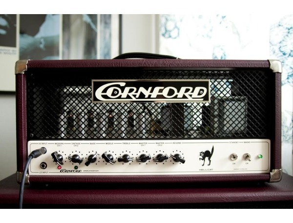 Cornford Hellcat   The Hellcat is a hand wired boutique amp that pushes the very boundaries of point to point wiring to their limit.