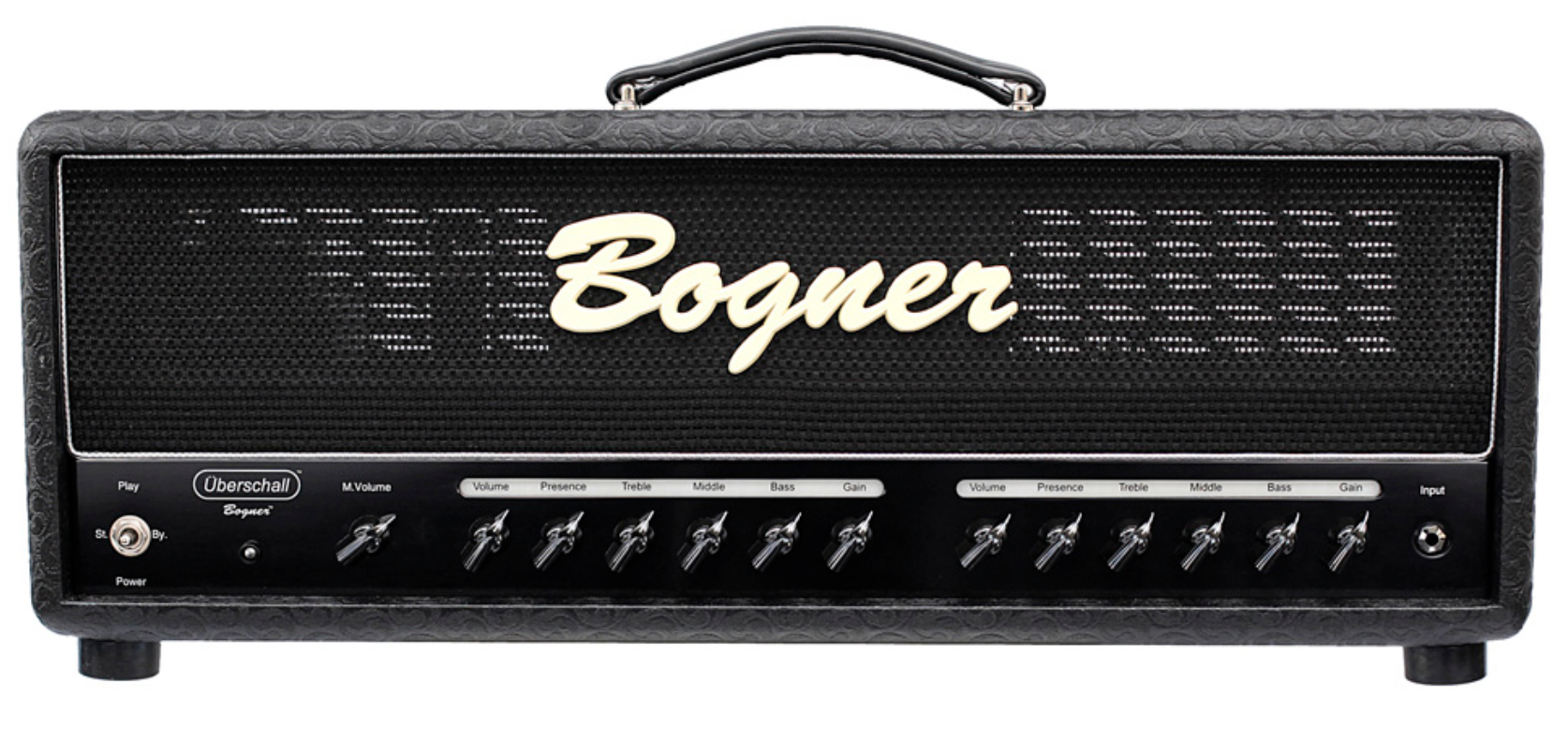 Bogner Ubdershall   Uberschall is the German word for Super Sonic and we designed this amp primarily for extreme, heavy and aggressive styles of music. Detuned or baritone guitars crave this amp.