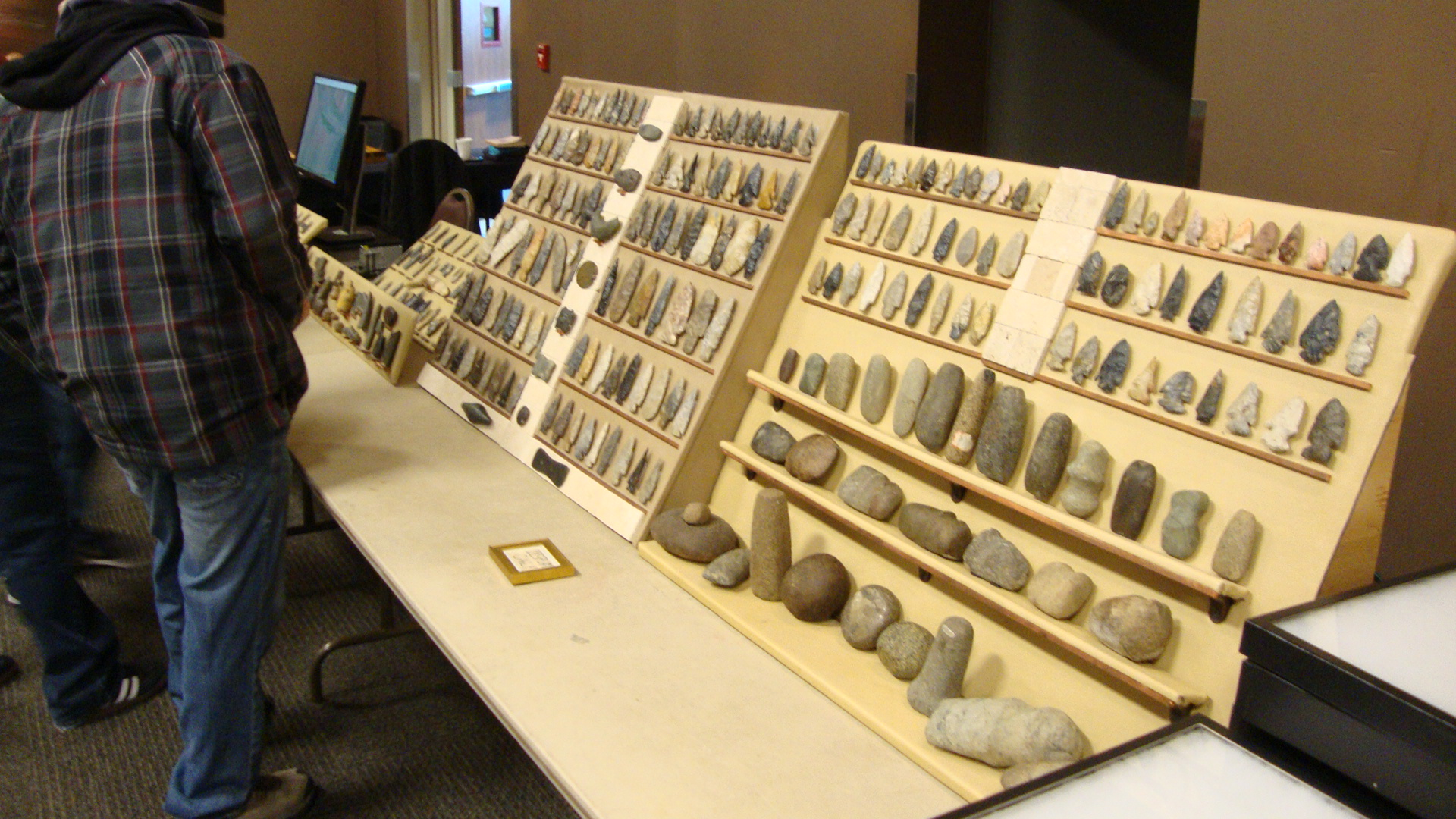 Display of finds from Wayne County by Greg Dush.