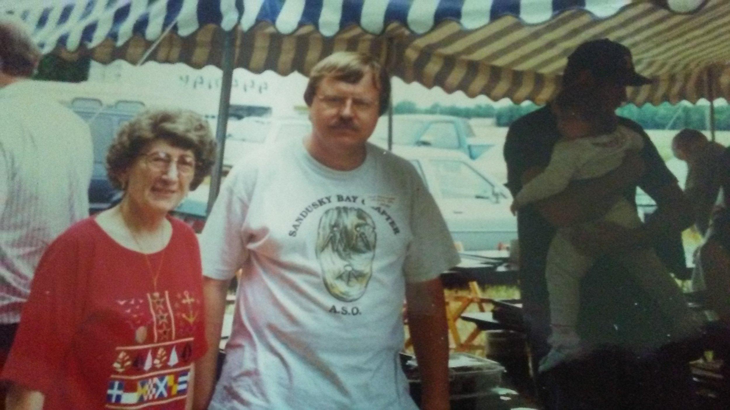 Mrs. Sauer and Dave Boetticher