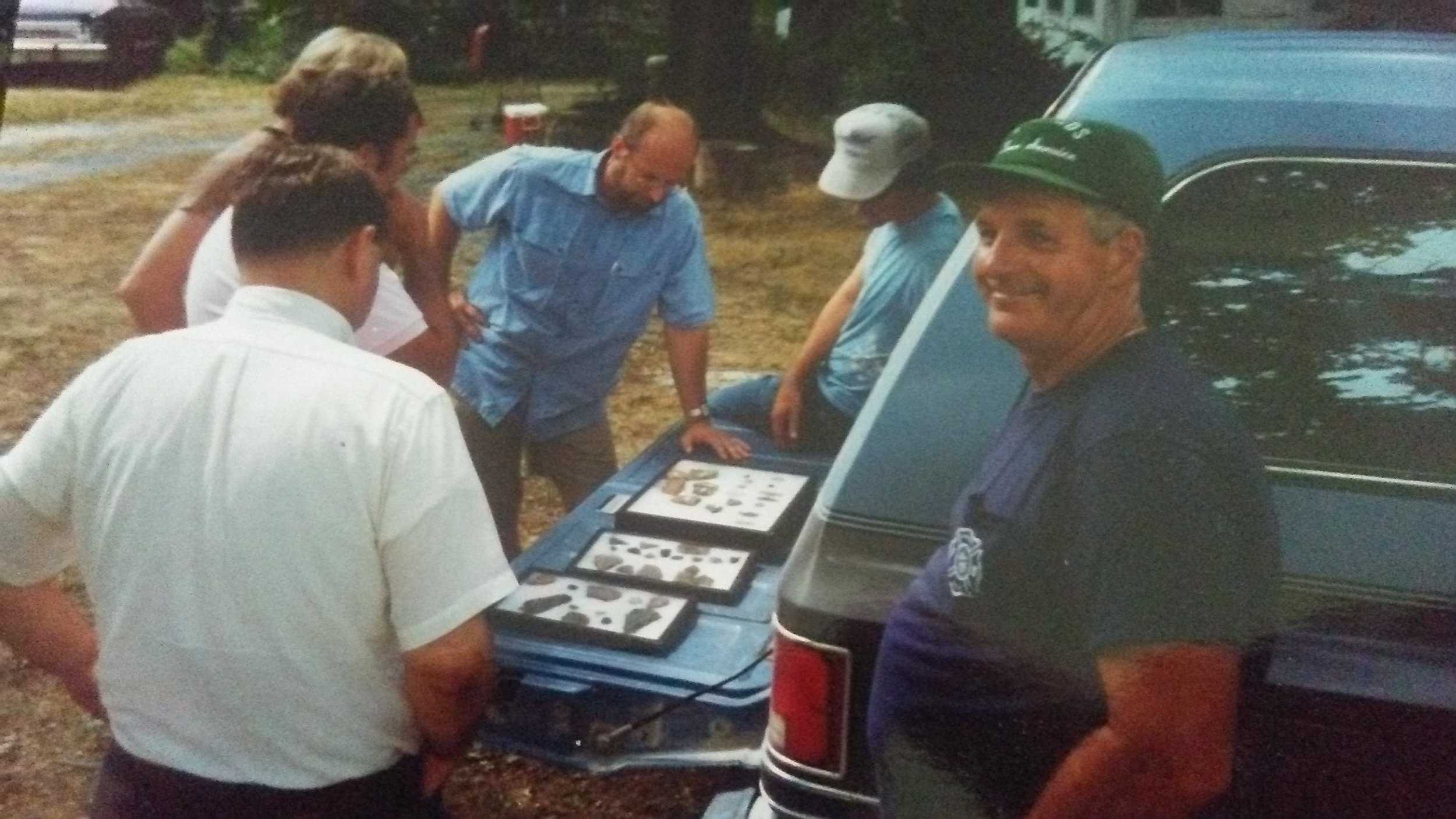 Gene Edwards with display at the Vietzen Picnic 1991