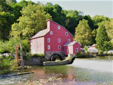 The historic Red Mill in Clinton New Jersey