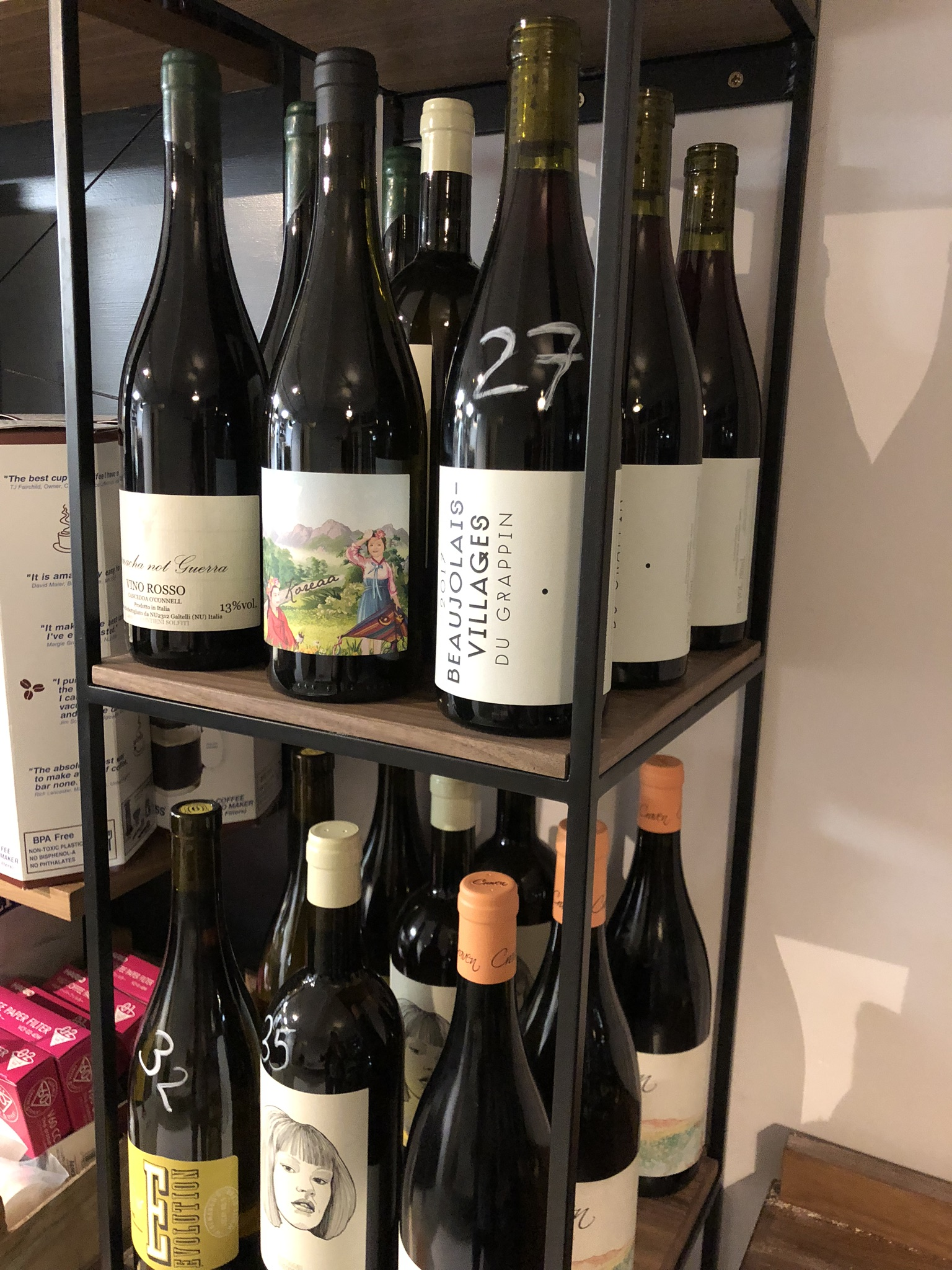 Delicious low intervention wines
