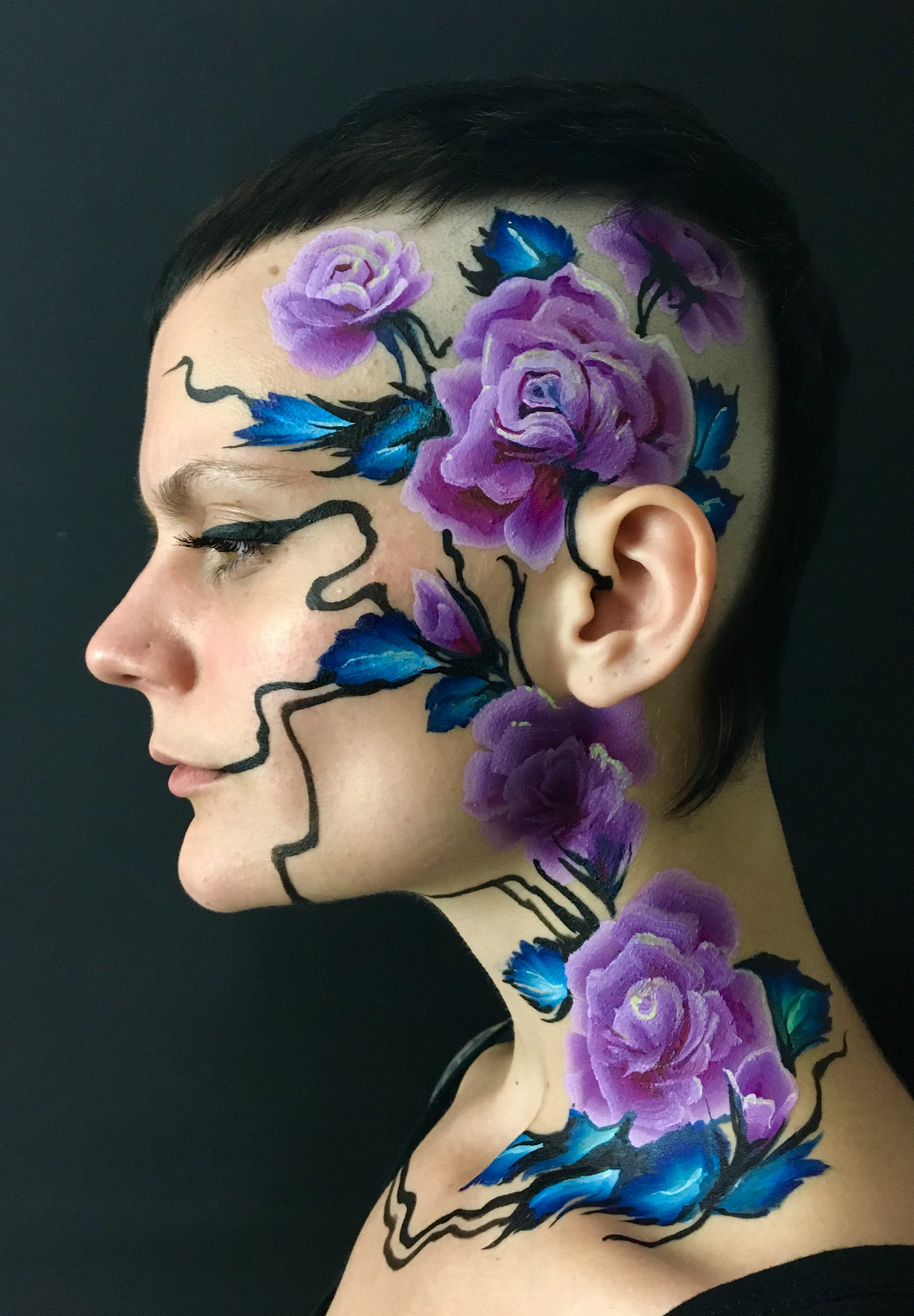 Purple floral mohawk face art - Brierley Thorpe 2018.jpg
