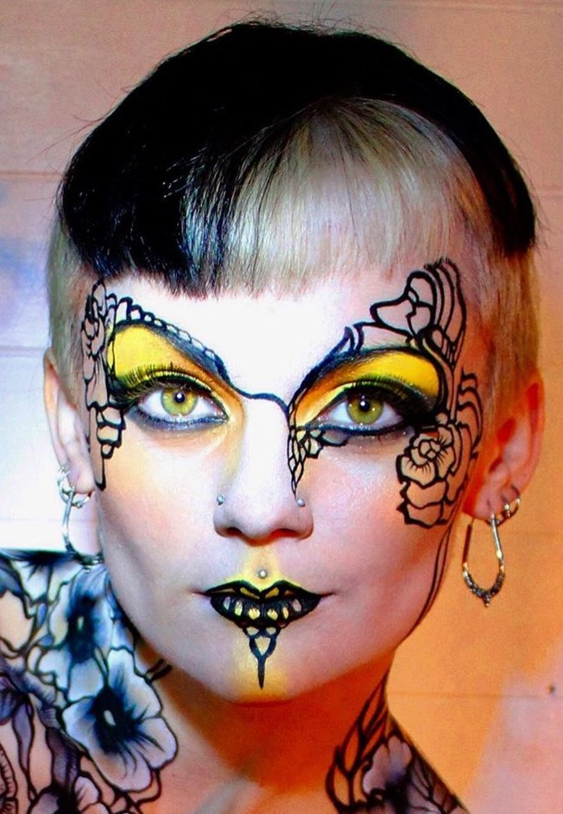 Yellow and black abtract floral eye design - Brierley Thorpe.jpg