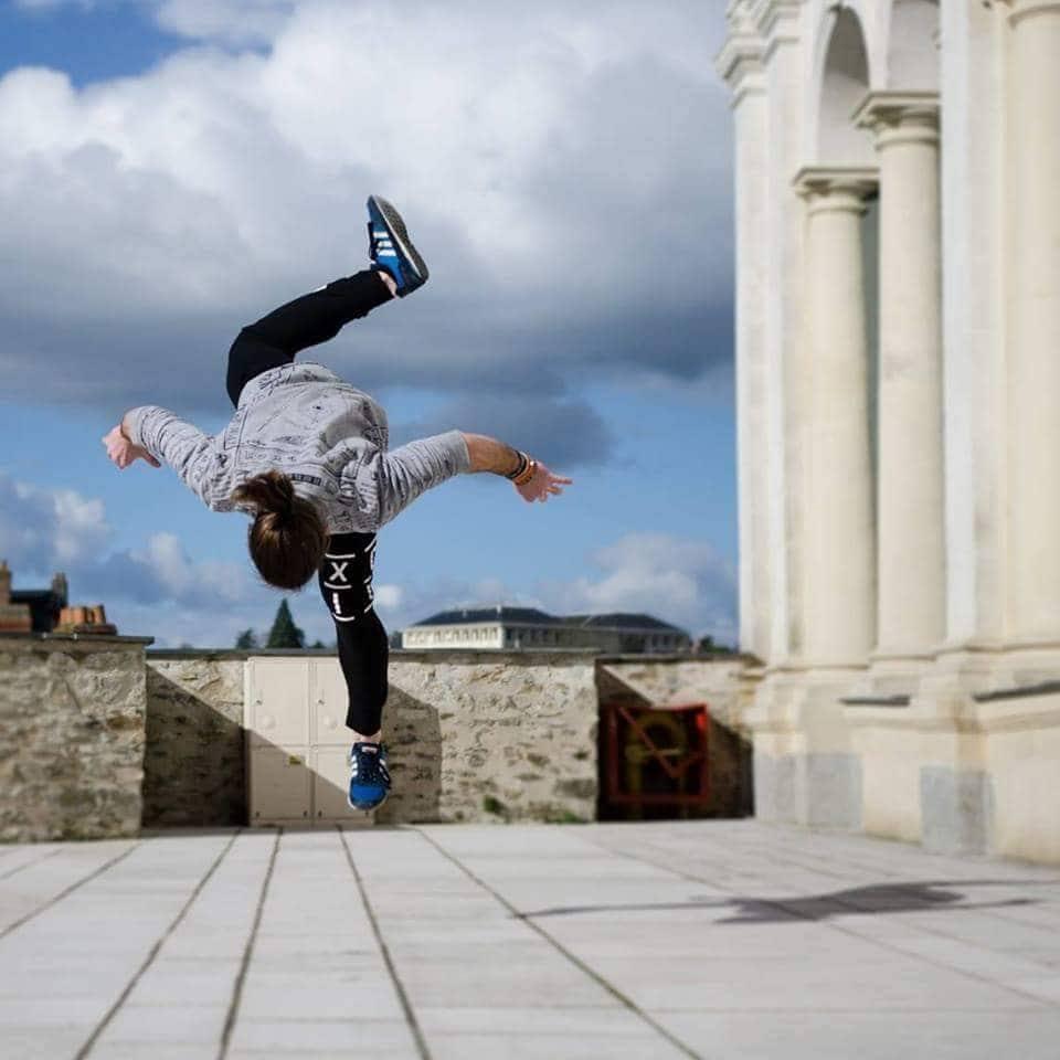 A dose of gravity-defying acrobatics. -