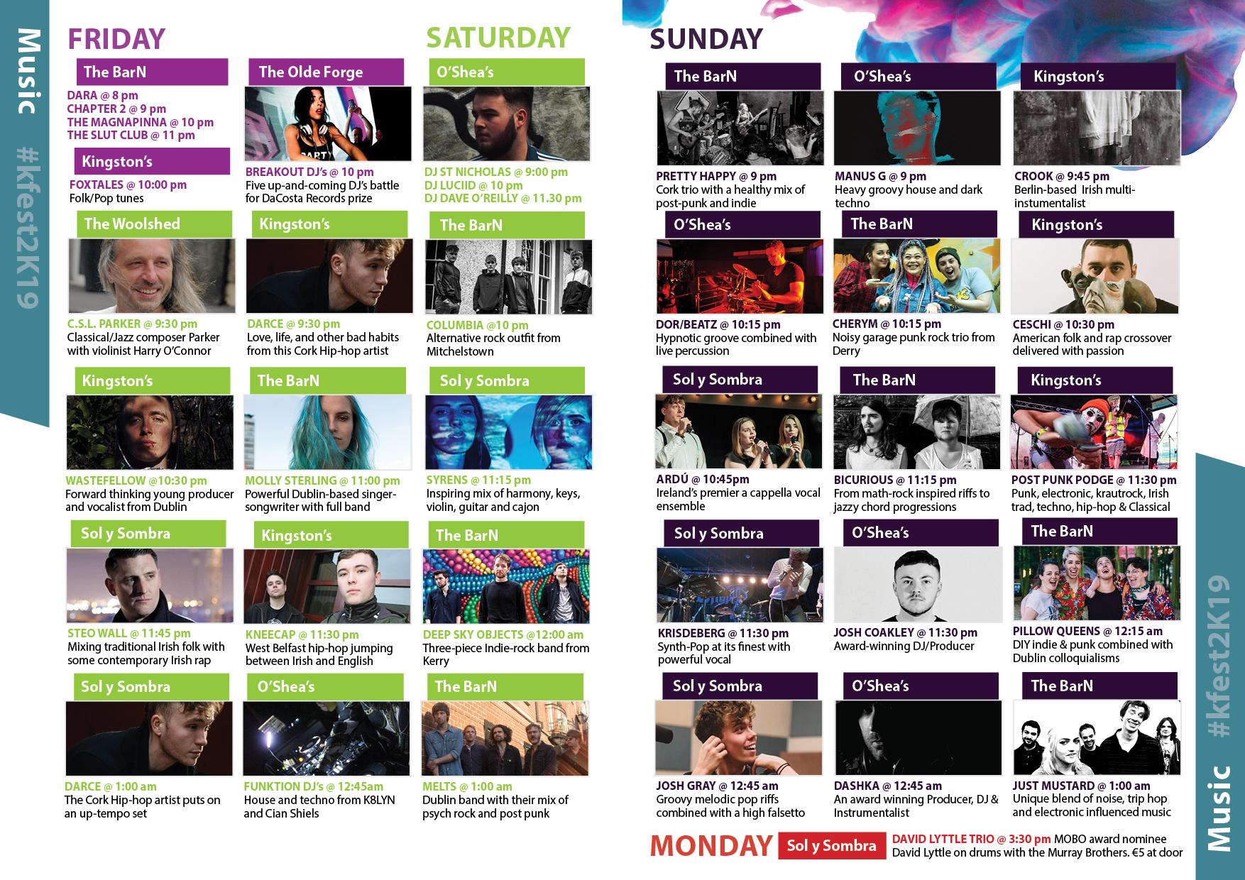 Lineup — K-FEST Arts Festival | 31 May - 2 June