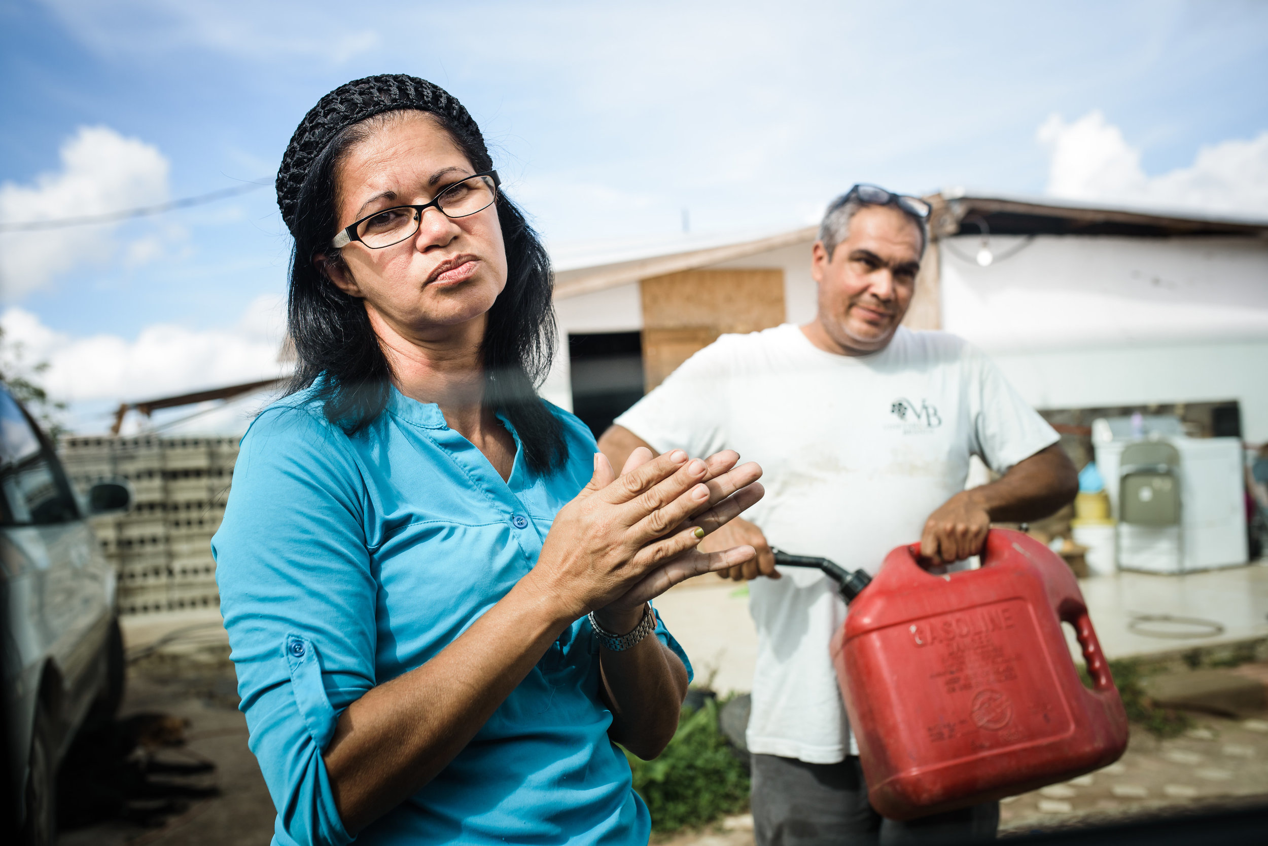 Photo credit: Aniya Emtage Legnaro  Amalia Rosario is a baker and provides for the family. Hurricane Maria took away the stove and parts of her home where all her utensils were. She no longer has the equipment to bake and provide for her family. Jayuya, Puerto Rico