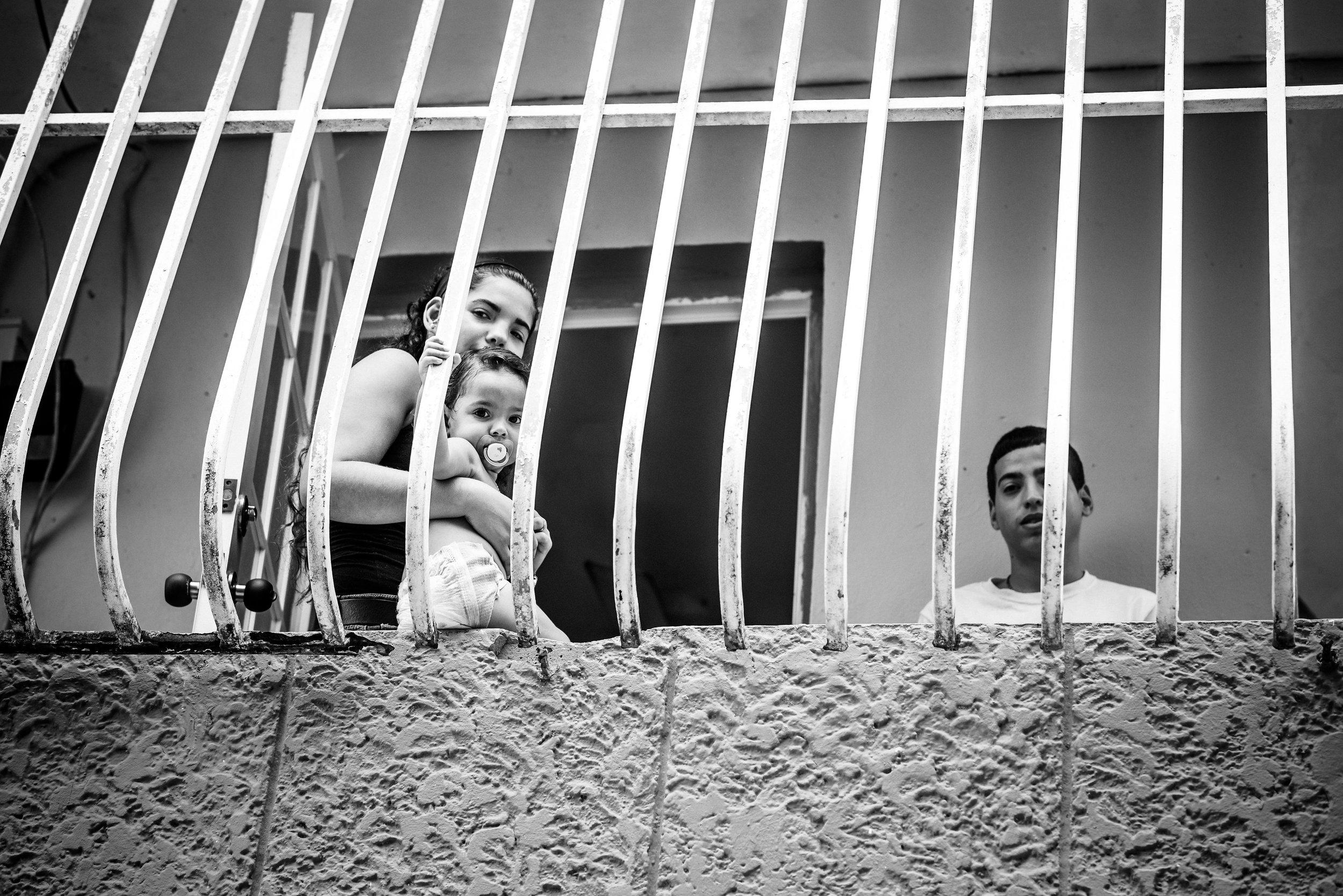 Photo credit: Aniya Emtage Legnaro  A family in Cantera, San Juan.