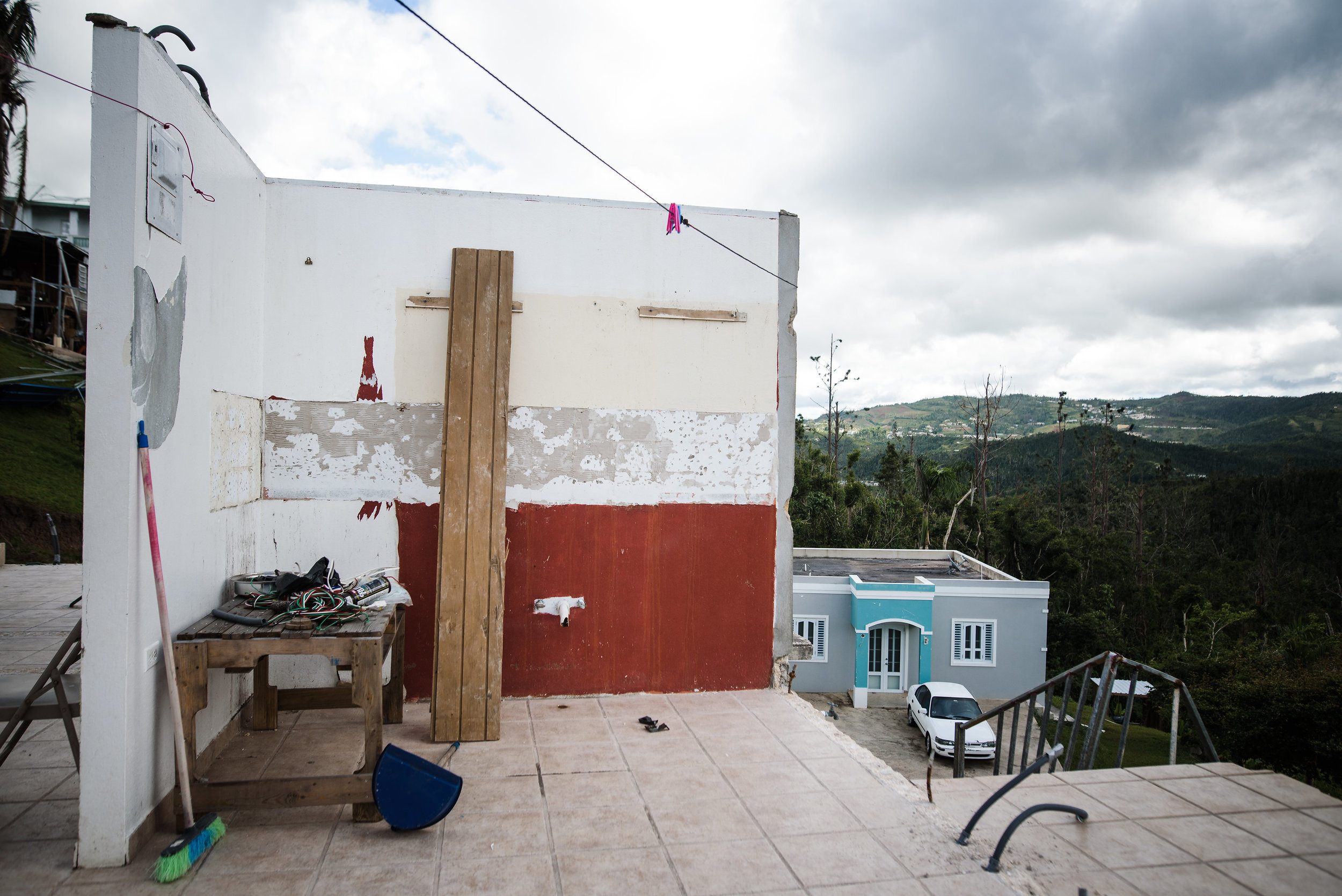 Photo credit: Aniya Emtage Legnaro  What remained of Juan and Denisse's home after hurricane Maria hit on September 20th 2017. Orocovis, Puerto Rico