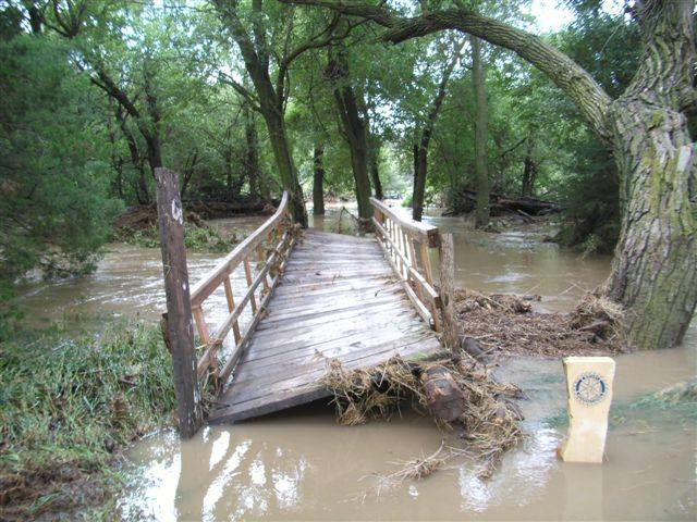 Damage to Rotary Bridge