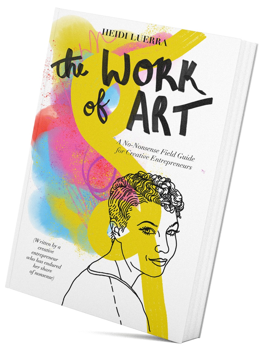 IG: @WorkofArtBook  |  FB: TheWorkofArtBook  |  TW: @WorkofArtBook   GET YOUR COPY ON  AMAZON ,  BARNES&NOBEL.COM  OR  APPLE BOOKS