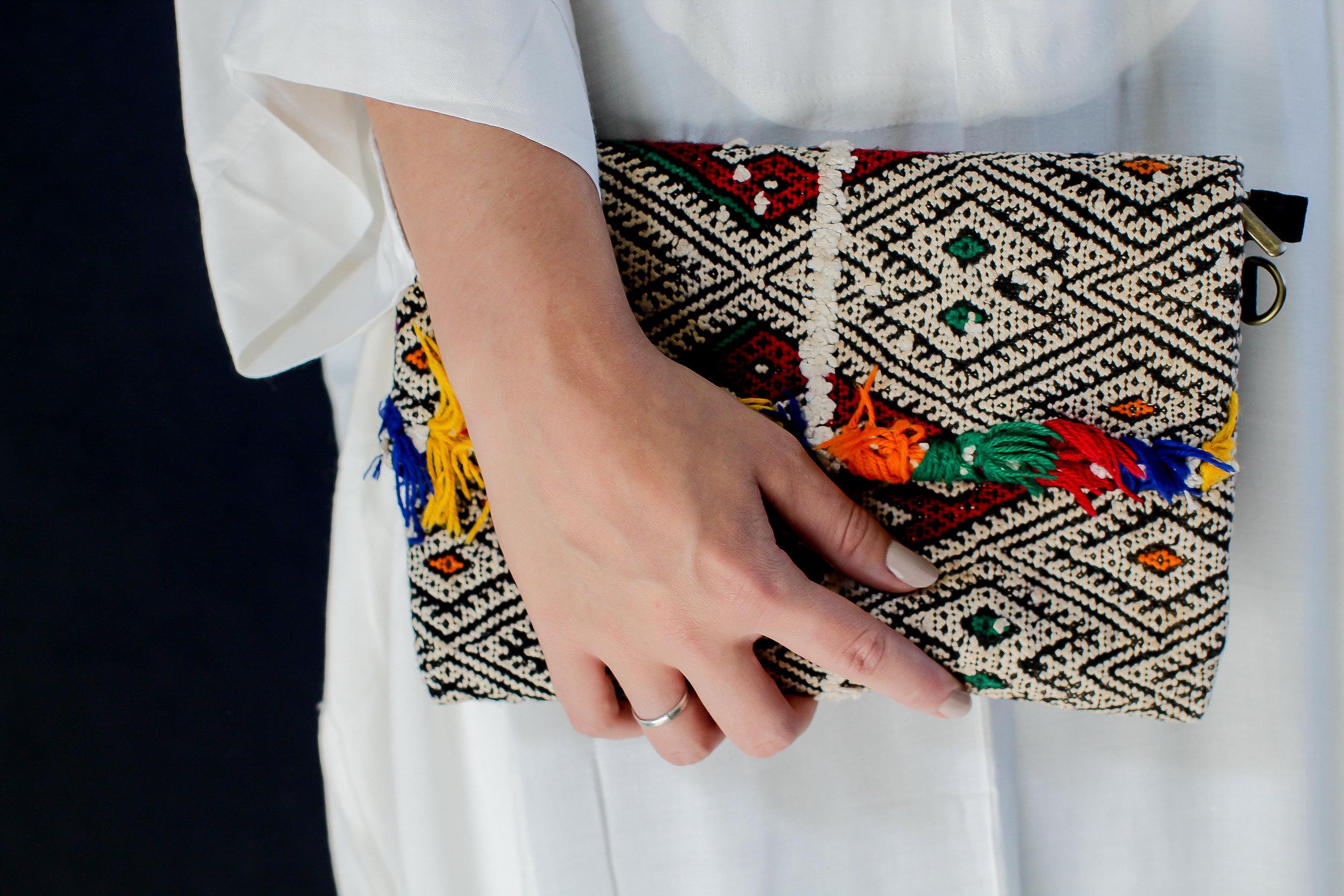 Moroccan Carpet Clutch -