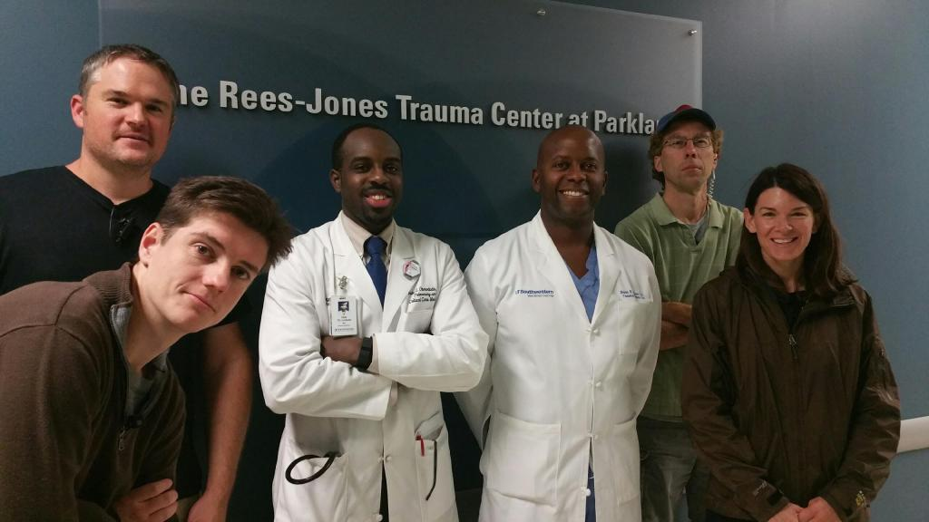 Dr. Dale Okorodudu and the crew from UT Southwestern Medical Center (Nov, 2015)
