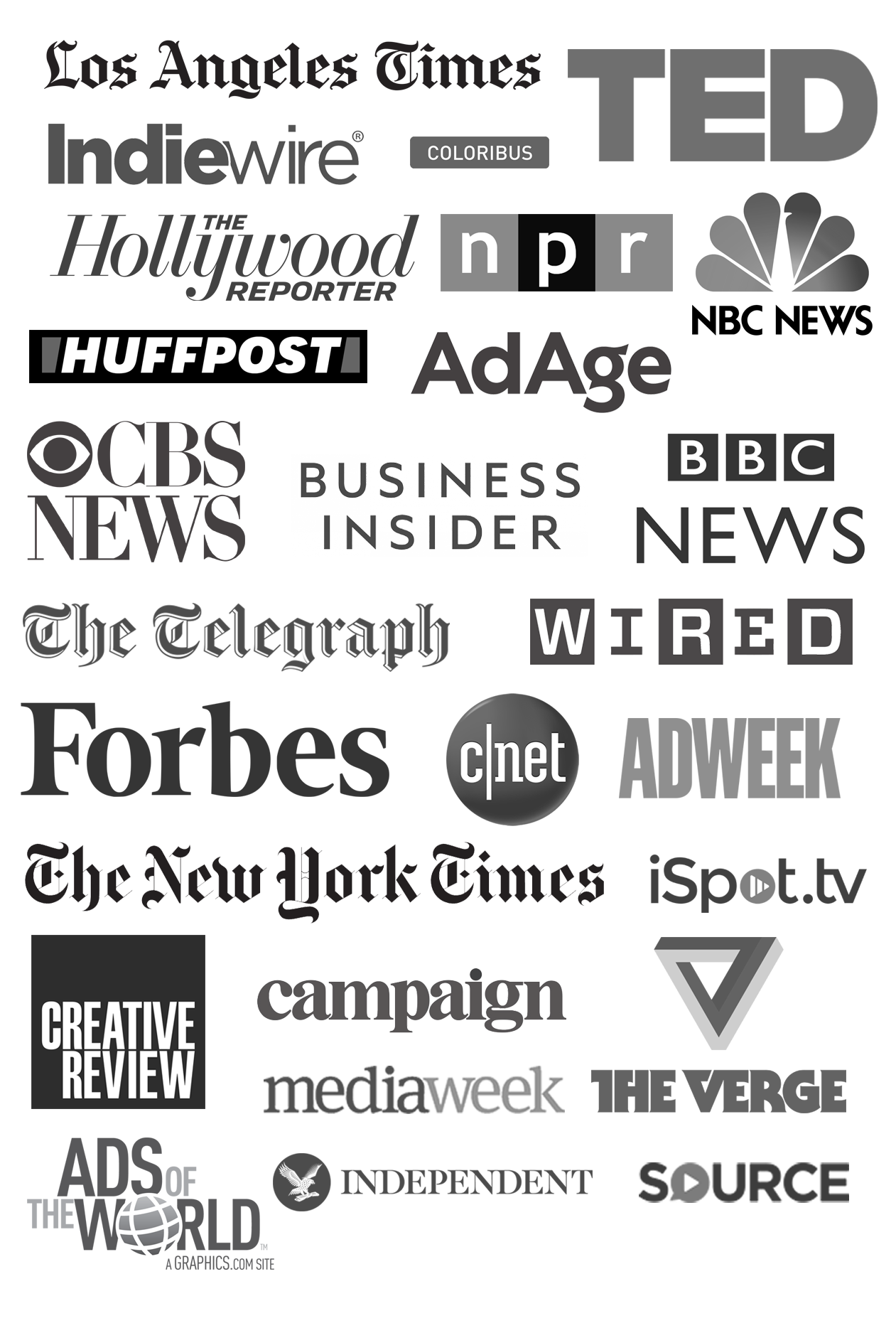 Press coverage - Over the years, my work has been covered by press outlets like Wired, New York Times, BBC, Hollywood Reporter and The Verge among others. For specific articles please click on the press logos in every project.