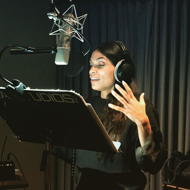 @rosariodawson recording Chapter II & III of @battlescarfilm It's on!!. 🔥🤟🏽 . . #vr #battlescarfilm #atlasv #animation #film #indievr #instagood