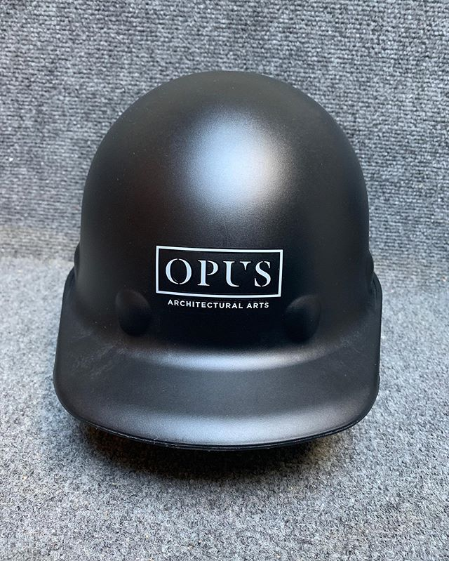 Check out Opus's sweet NEW hardhats! 😍👷🏻‍♀️🔥 #safetyfirst #hardhats #nycrestoration